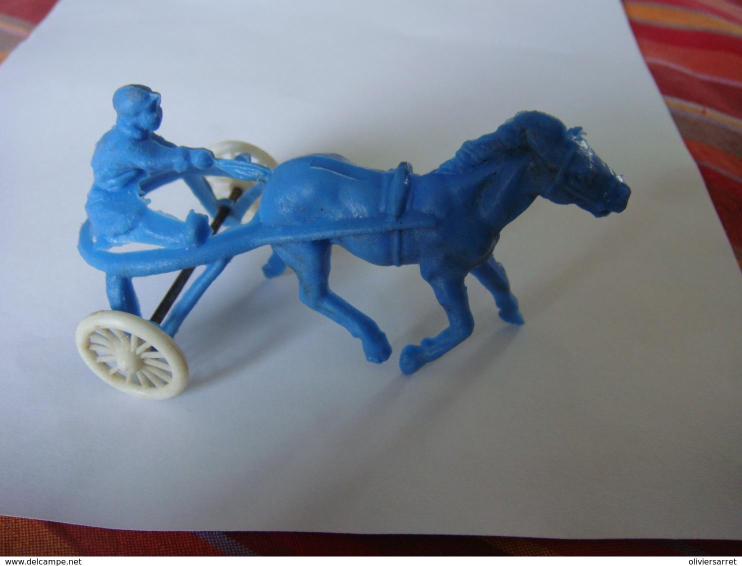 Plastique Sulky Cheval - Toy Memorabilia