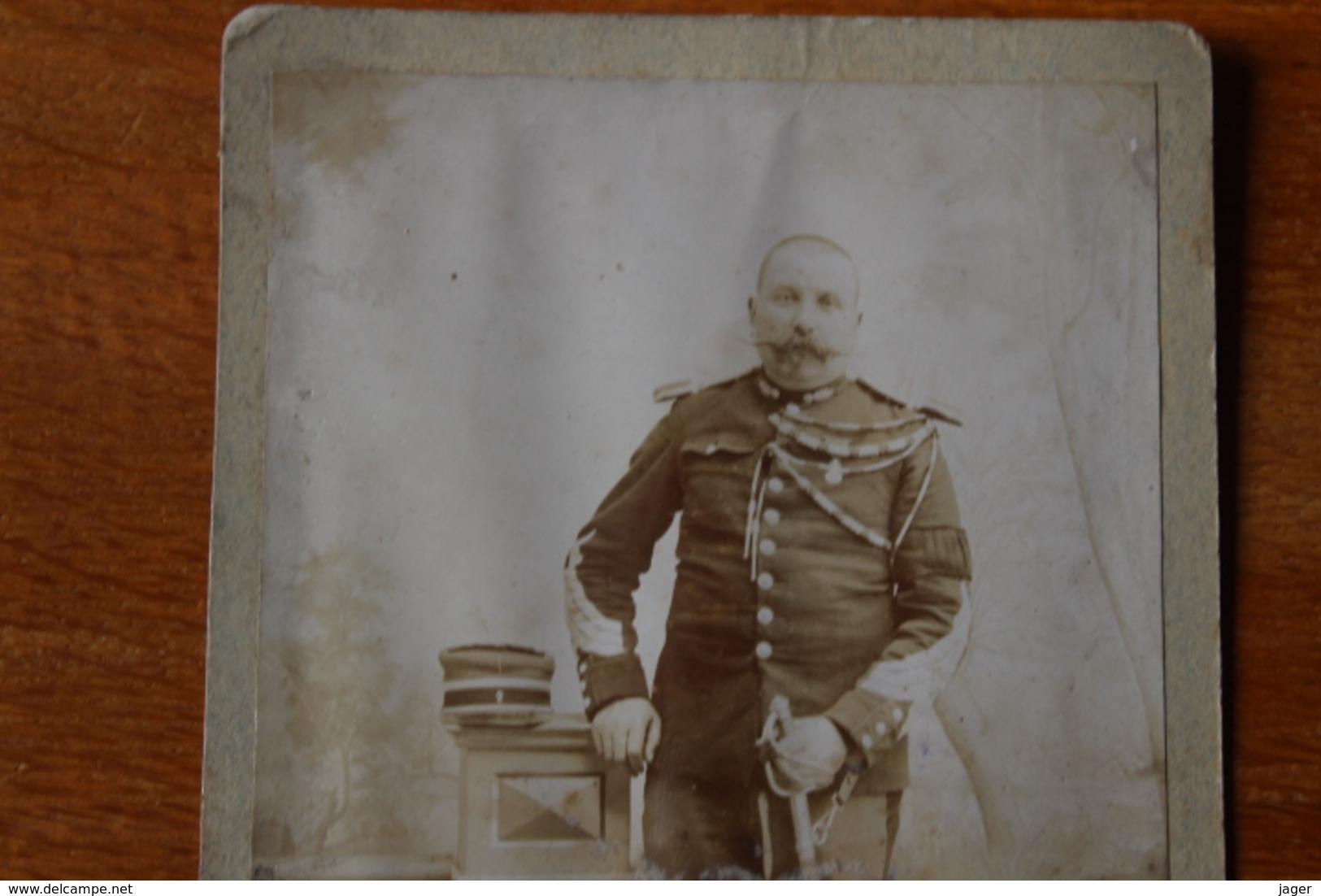 Cabinet  Le Gendarme   Maerchal Des Logis Chef 1901   De Saint Claude  Jura - Guerra, Militares