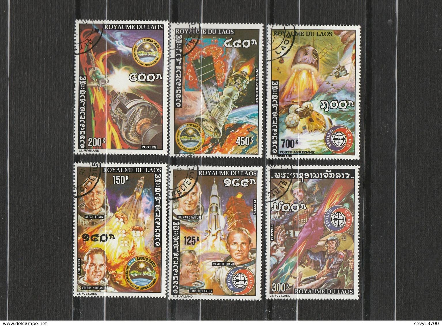 Laos Lot De 6 Timbres Sur L'espace - Appolo Et Soyouz -  Année 1975 Mi 417 - 419 - 420 - 416 - 415 - 418 - Laos