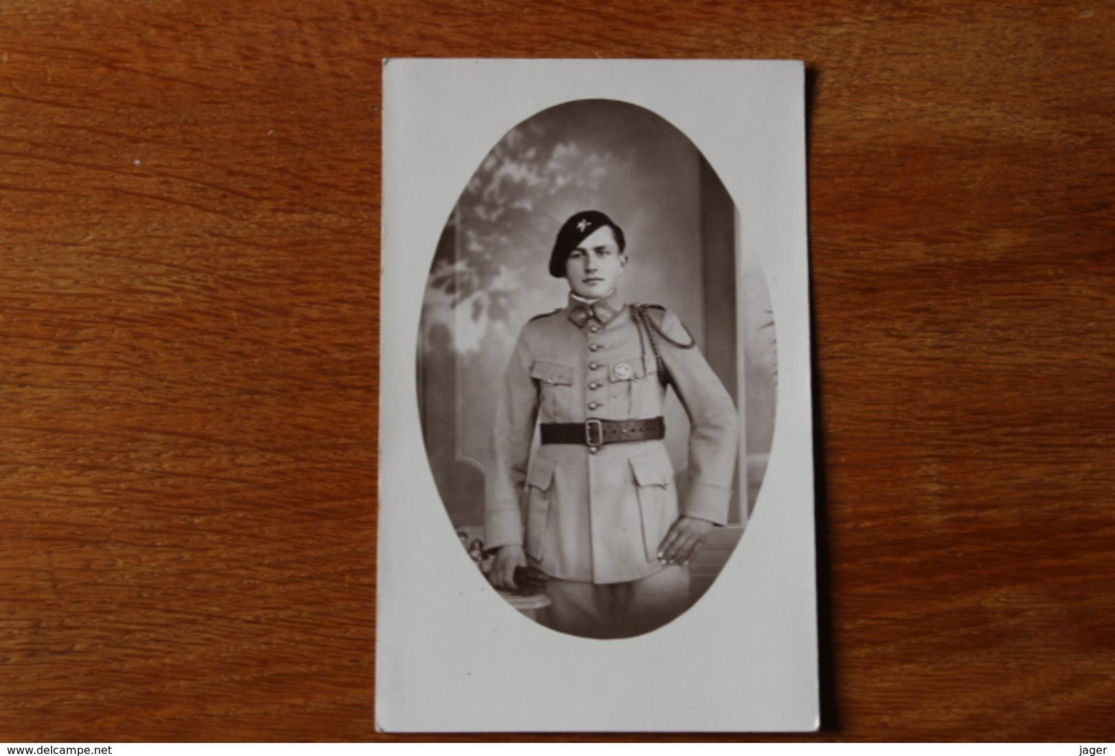 Carte Photo Regiment De Char De Combat 504 RCC   Insigne - Oorlog, Militair