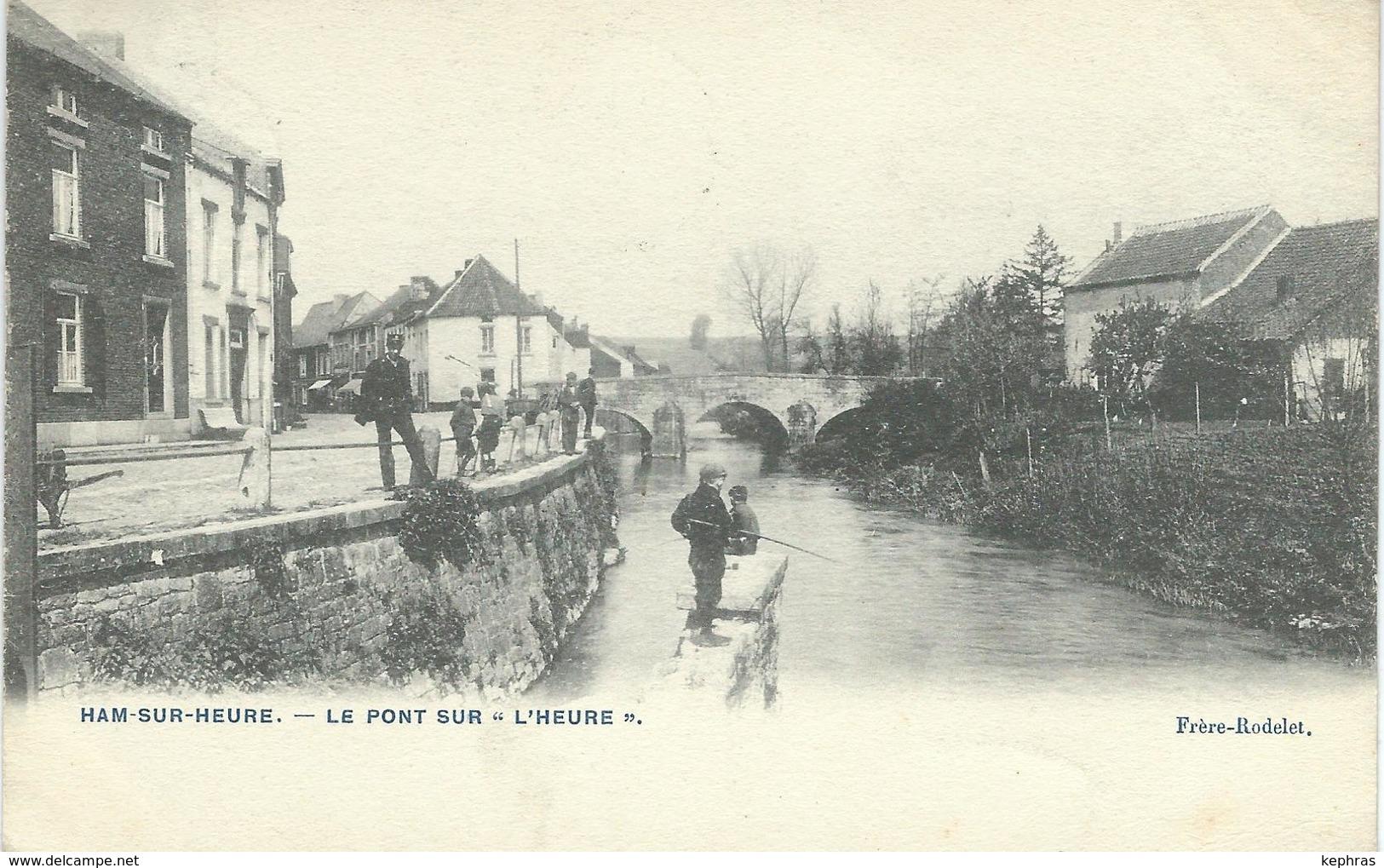 HAM-SUR-HEURE : Le Pont Sur L'Heure - TRES RARE VARIANTE - Cachet De La Poste 1906 - Ham-sur-Heure-Nalinnes