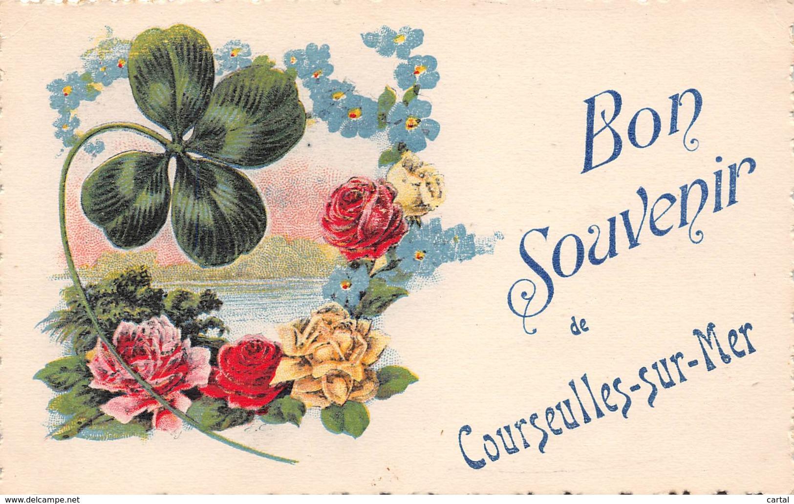 14 - Bon Souvenir De COURSEULLES-sur-MER - Courseulles-sur-Mer