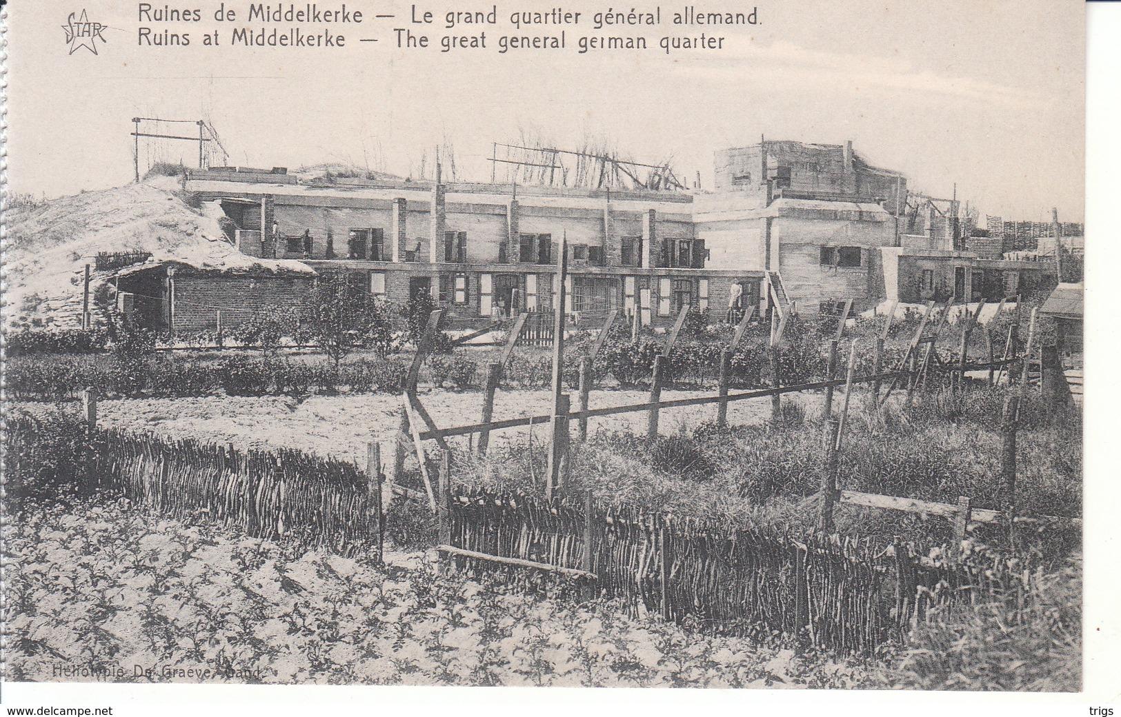 Middelkerke (1914-1918) - Le Grand Quartier Général Allemand - Middelkerke