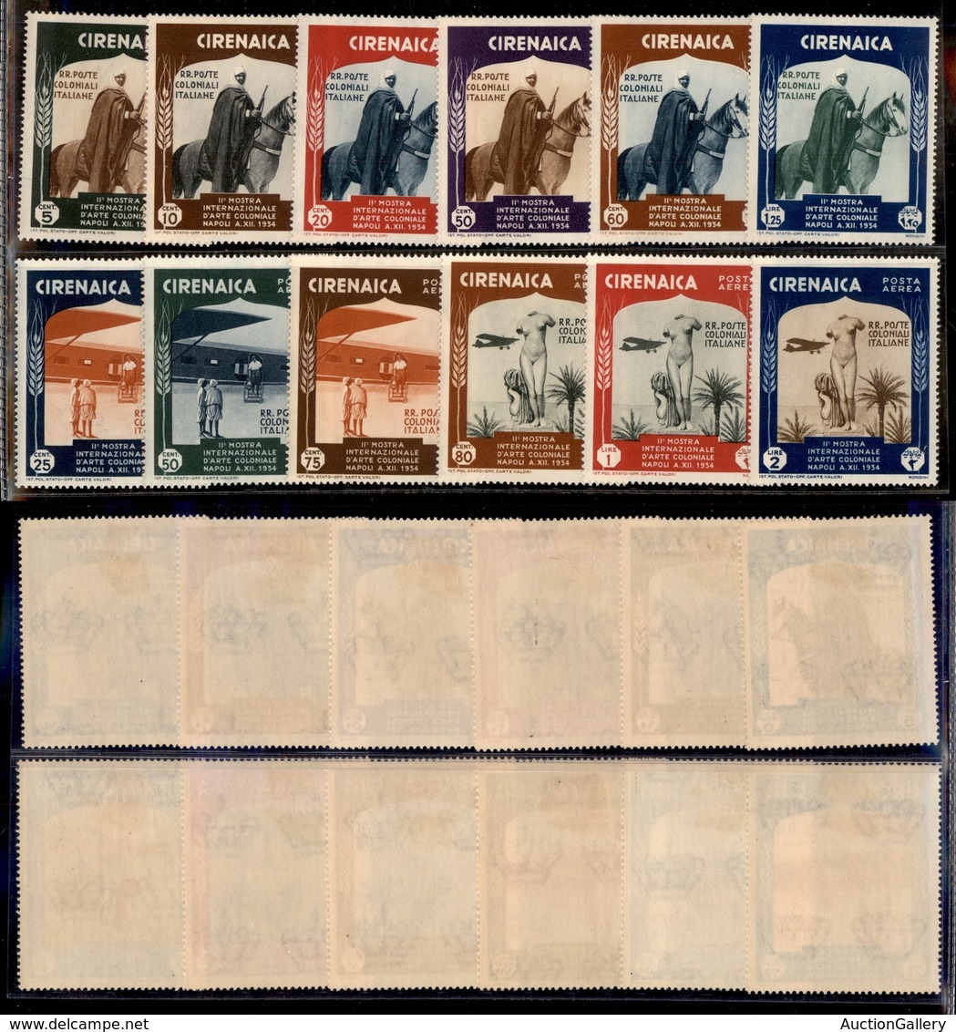 COLONIE - CIRENAICA - 1934 - Arte Coloniale (93/98 + 24/29 Aerea) - Emissione Completa - Gomma Originale (100) - Postzegels