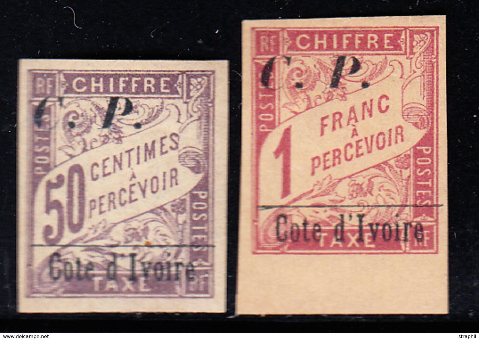 * COTE D'IVOIRE - COLIS POSTAUX - * - N°12, 13 - N°13 BDF - TB - Costa D'Avorio (1892-1944)