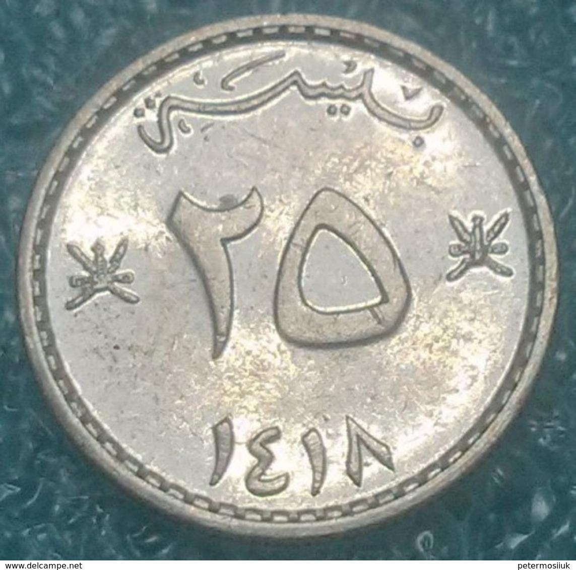 Oman 25 Baisa, 1418 (1997) -4143 - Omán