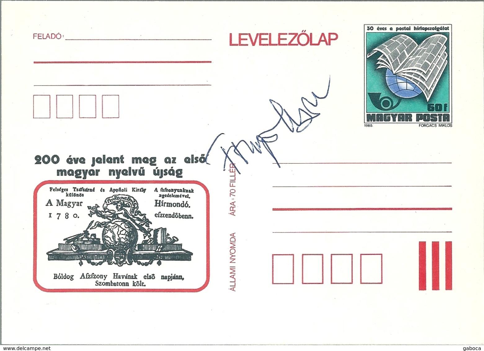 3342c Hungary Postcard Culture Press Media Newspaper Industry Post Unused Signed RARE - Postal Stationery