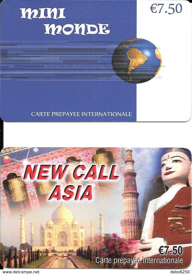 Lot De 2 Télécartes Prépayées Internationales - Prepaid-Telefonkarten: Andere