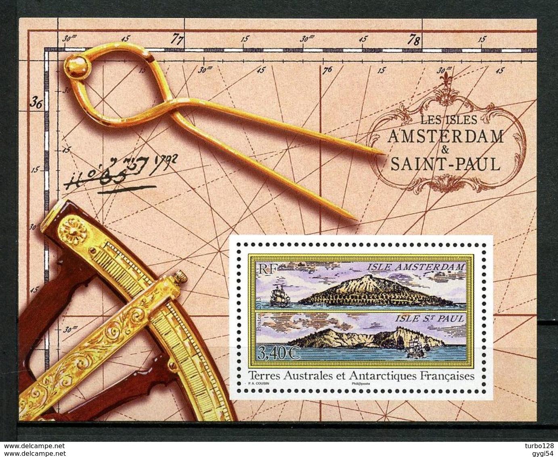 TAAF 2013 N° F653 ** Neuf MNH îles Amsterdam Et Saint Paul Vues Voiliers - Blocs-feuillets