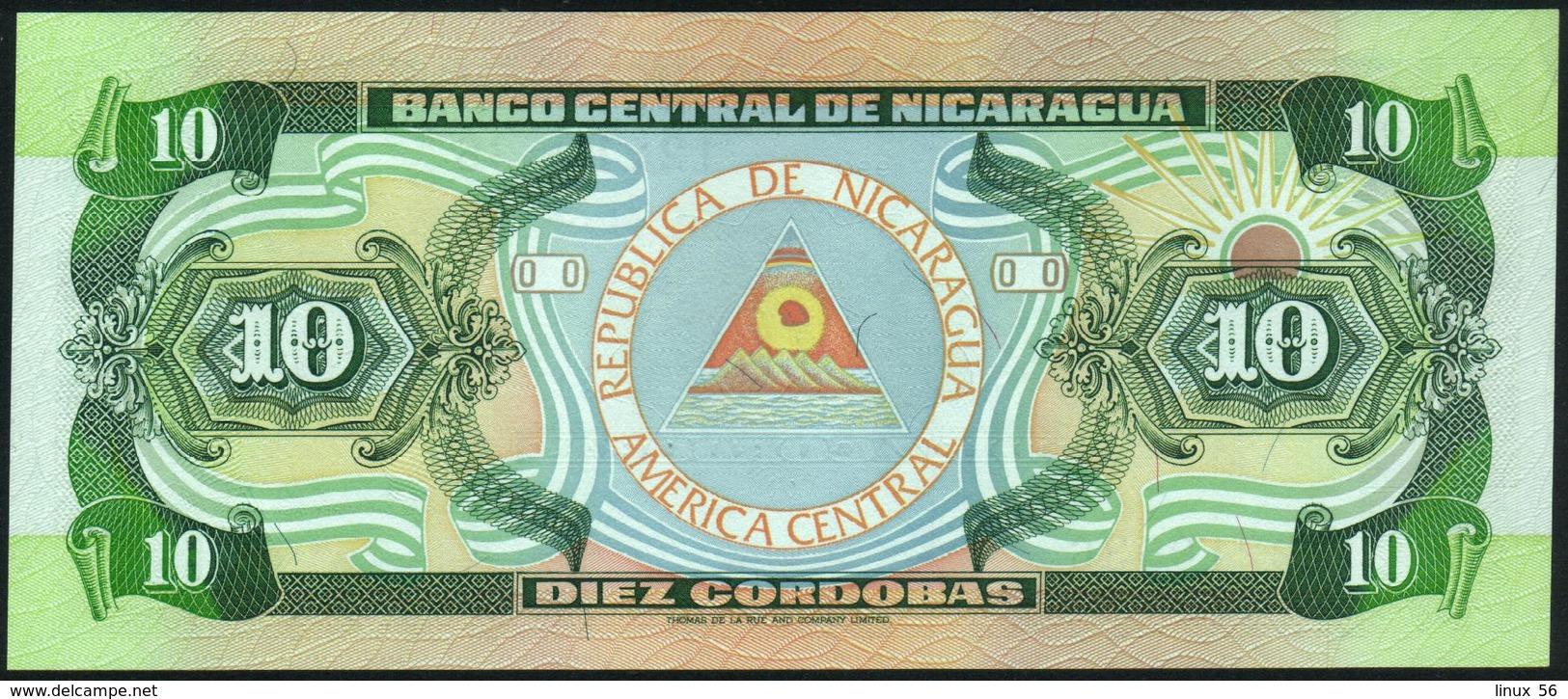 NICARAGUA - 10 Cordobas 1990 {Series A} AU-UNC P.175 (2) - Nicaragua