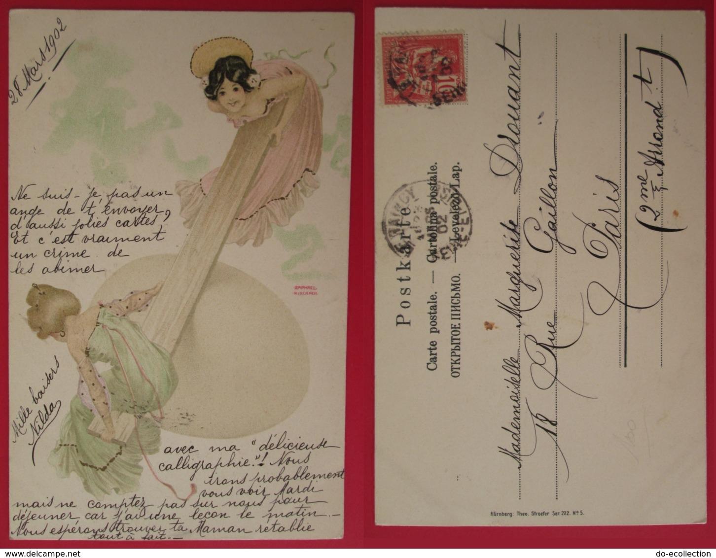 CPA Illustrateur RAPHAEL KIRCHNER Femmes Sur Un Oeuf Balançoire 1902 LE RAINCY - Kirchner, Raphael