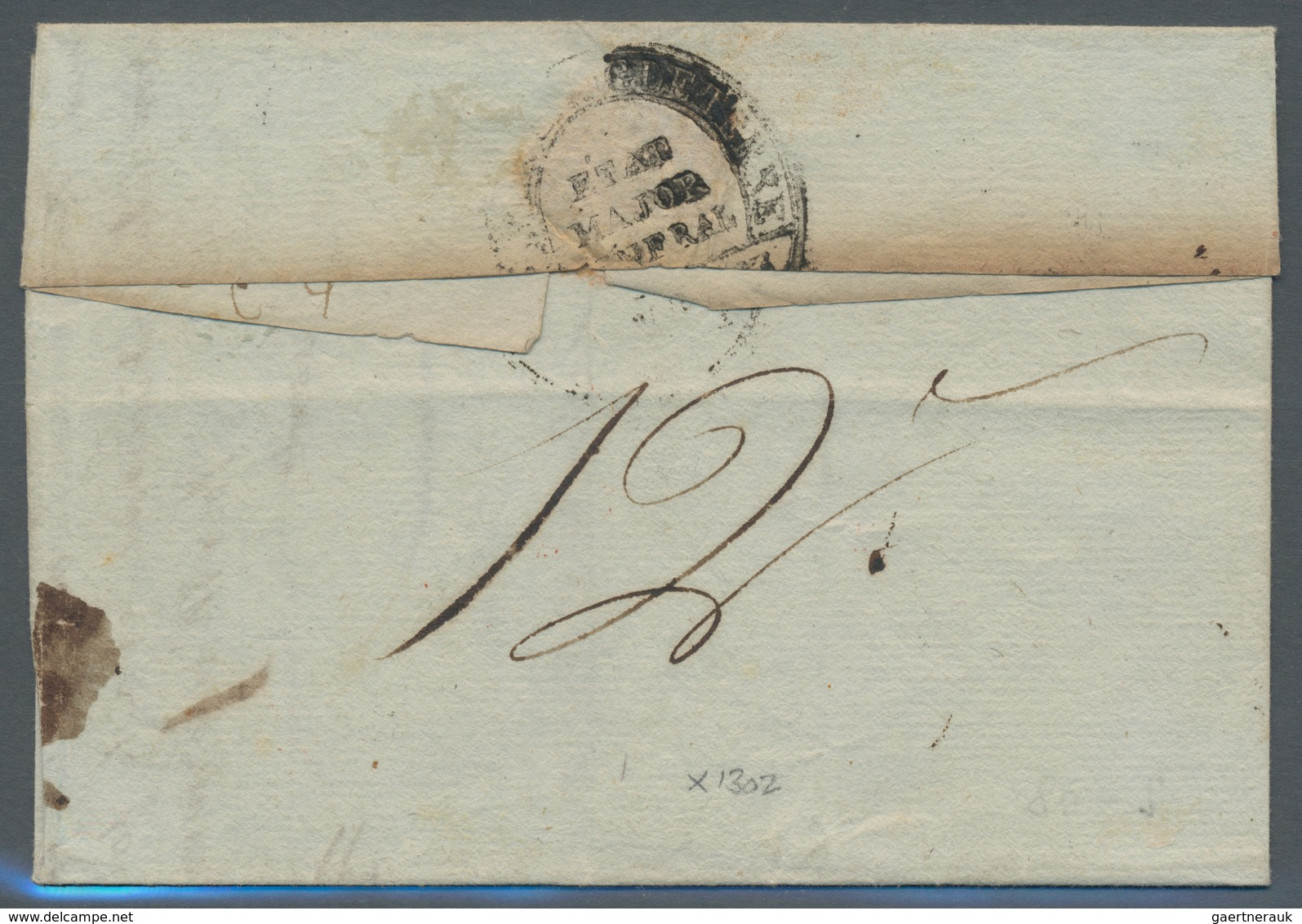 Großbritannien - Vorphilatelie: 1798, L2 PORT-PAYE / ARM. D'ANGLETERR Beside Oval Postmark ARMEE D'A - Groot-Brittannië