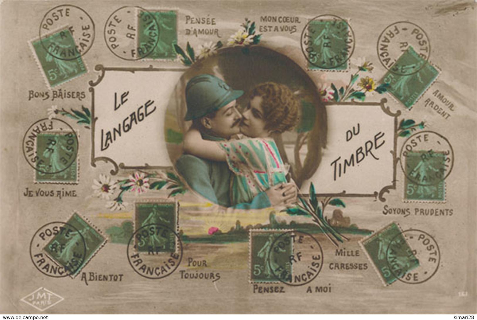 LE LANGAGE DU TIMBRE - Fancy Cards