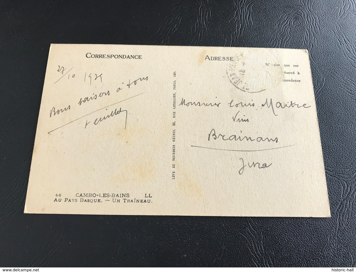 46 - CAMBO LES BAINS Un Traineau - 1934 - Cambo-les-Bains