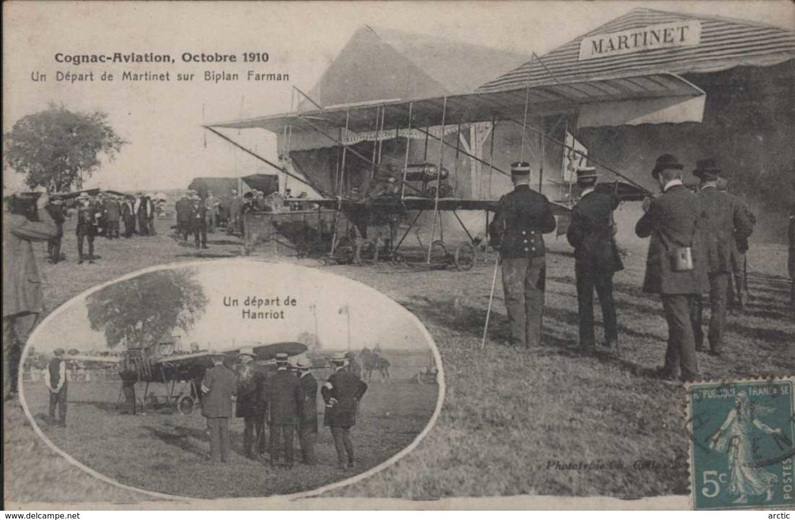 Cognac Aviation Octobre 1910 Un Départ De Martinet Un Départ De Hanriot - Cognac
