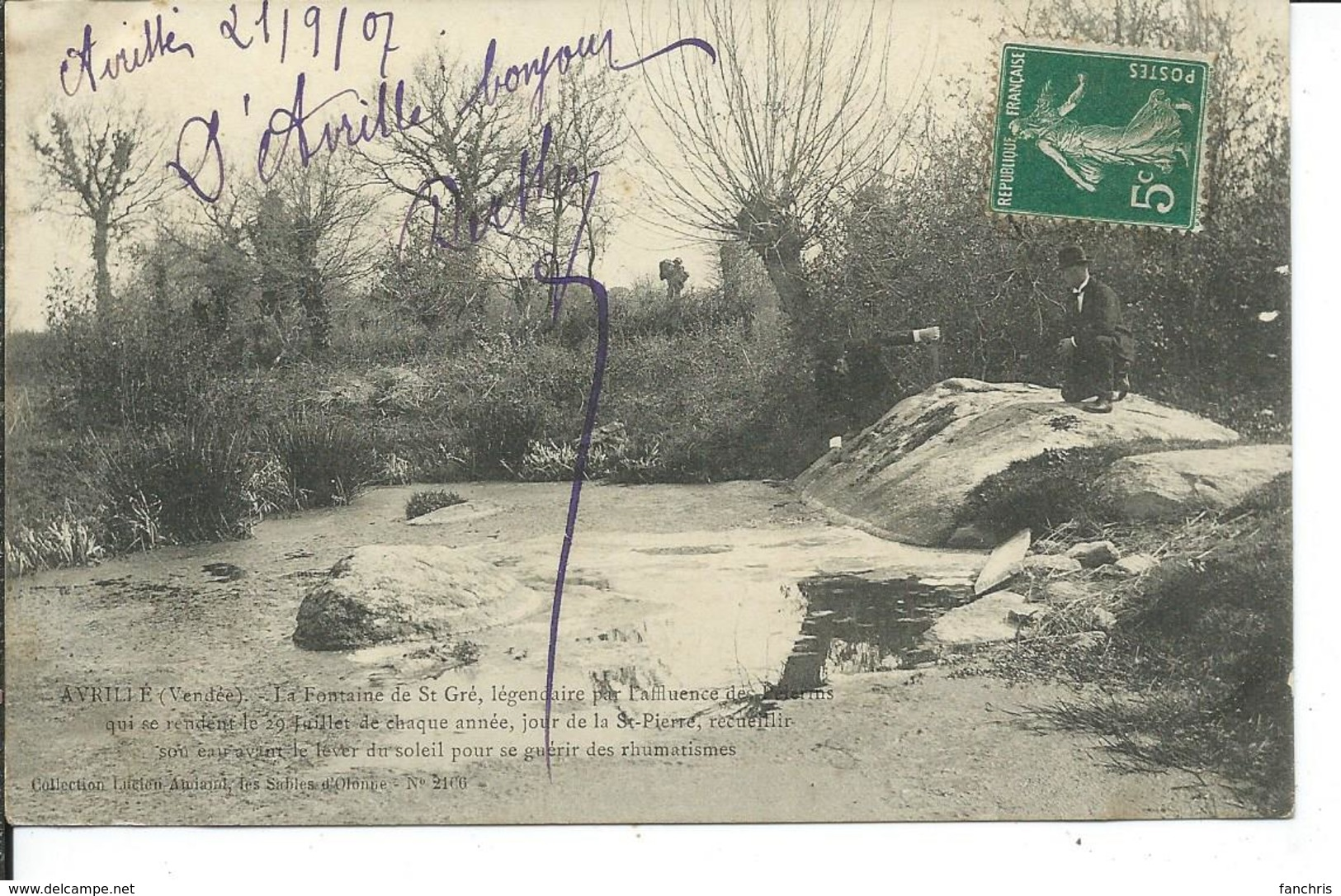 Avrillé-La Fontaine De St-Gré Qui Guérit Les Rhumatismes - Other Municipalities
