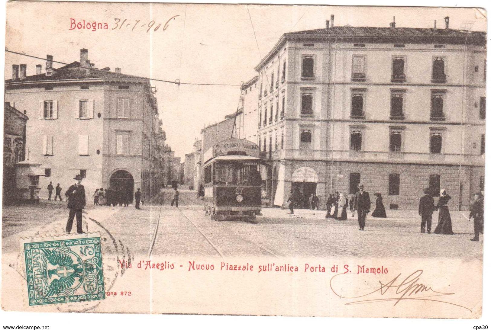 CPA ITALIE.BOLOGNA.VIA D'AZEGLIO - Italie