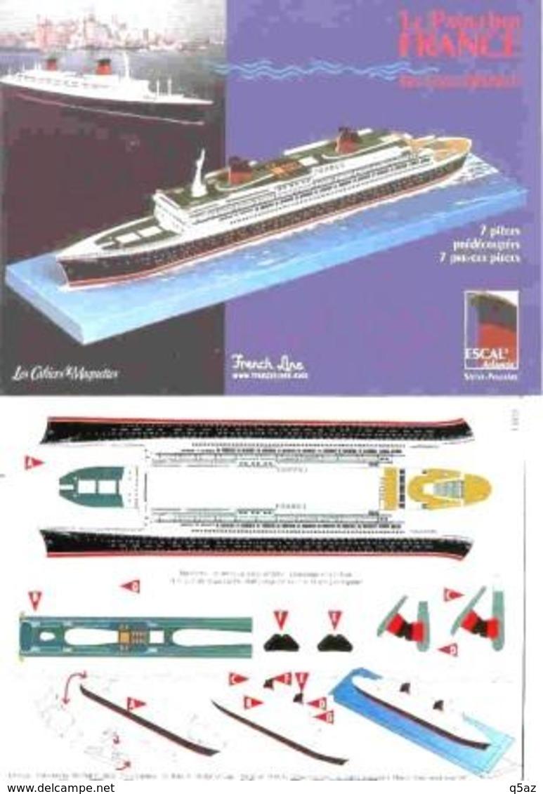 Jb5.m- Maquette Paquebot FRANCE CGT Cie Gle Transatlantique French Line - Sciences & Technique