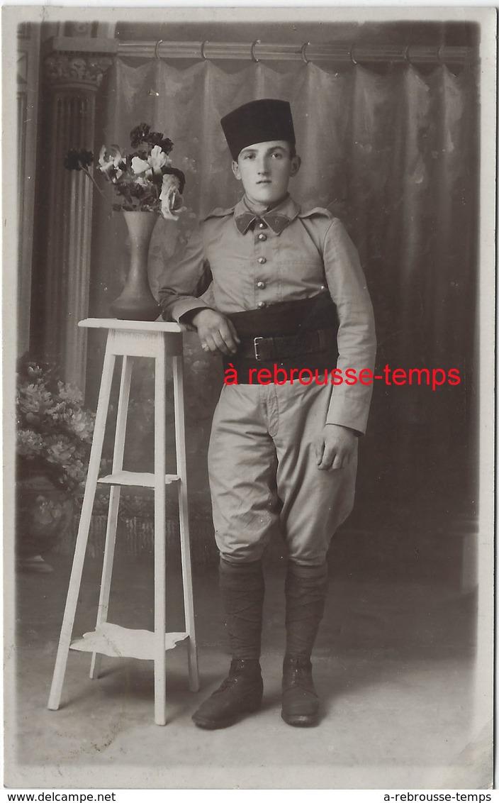 Carte Photo-soldat --du 6e R- Format 8,4 X 13,2cm - Guerre, Militaire