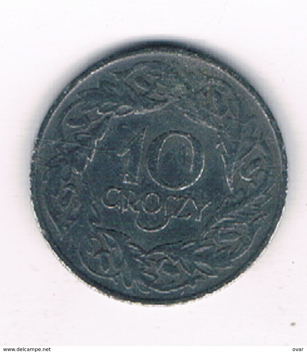 10 GROSZY 1938-1939 (gubernator) POLEN /4400/ - Poland