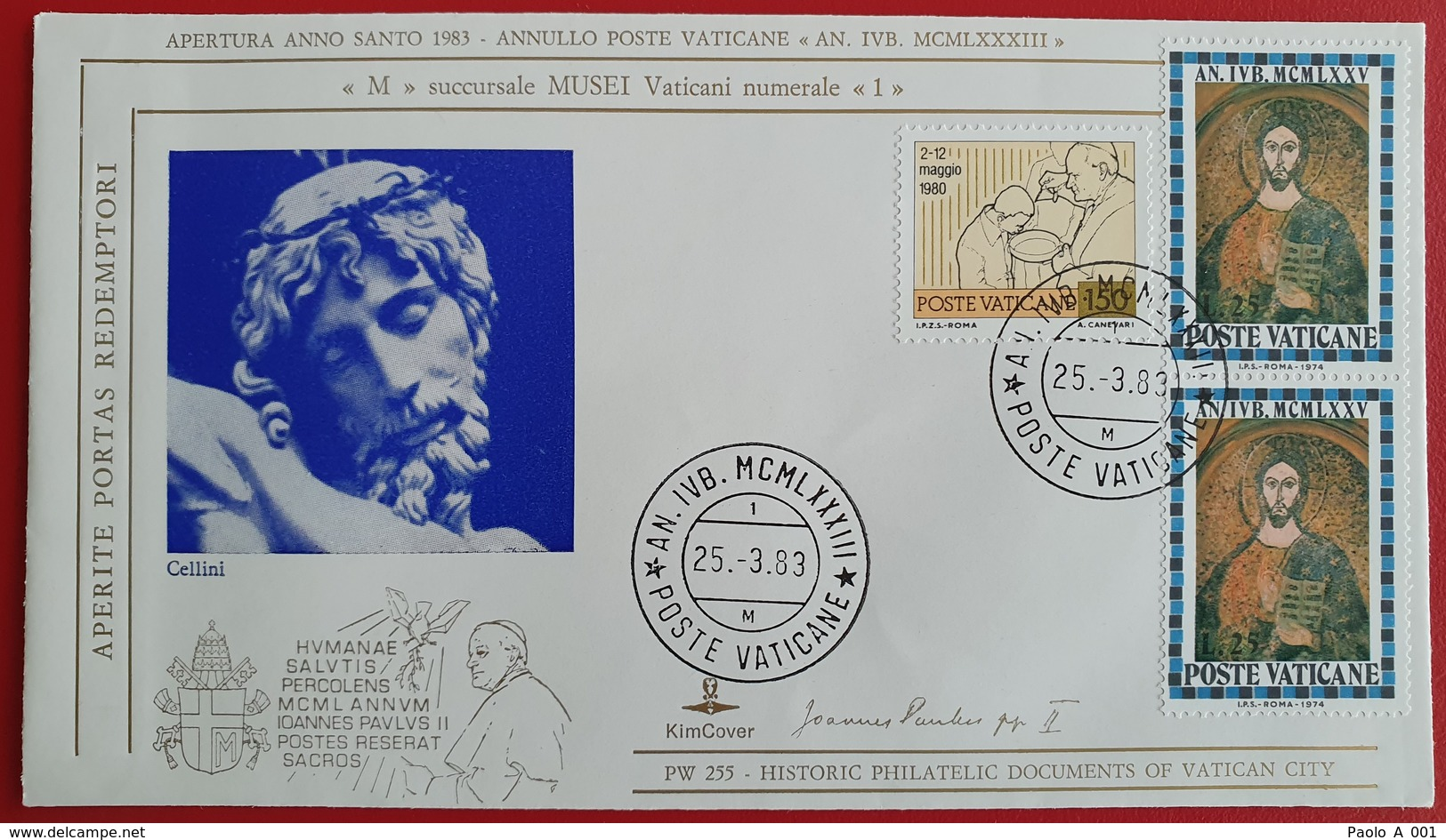 VATICANO VATIKAN VATICAN M Musei Vaticani Numerale 1 Aperite Portas Redemptori Apertura Anno Santo 1983 - Vaticano