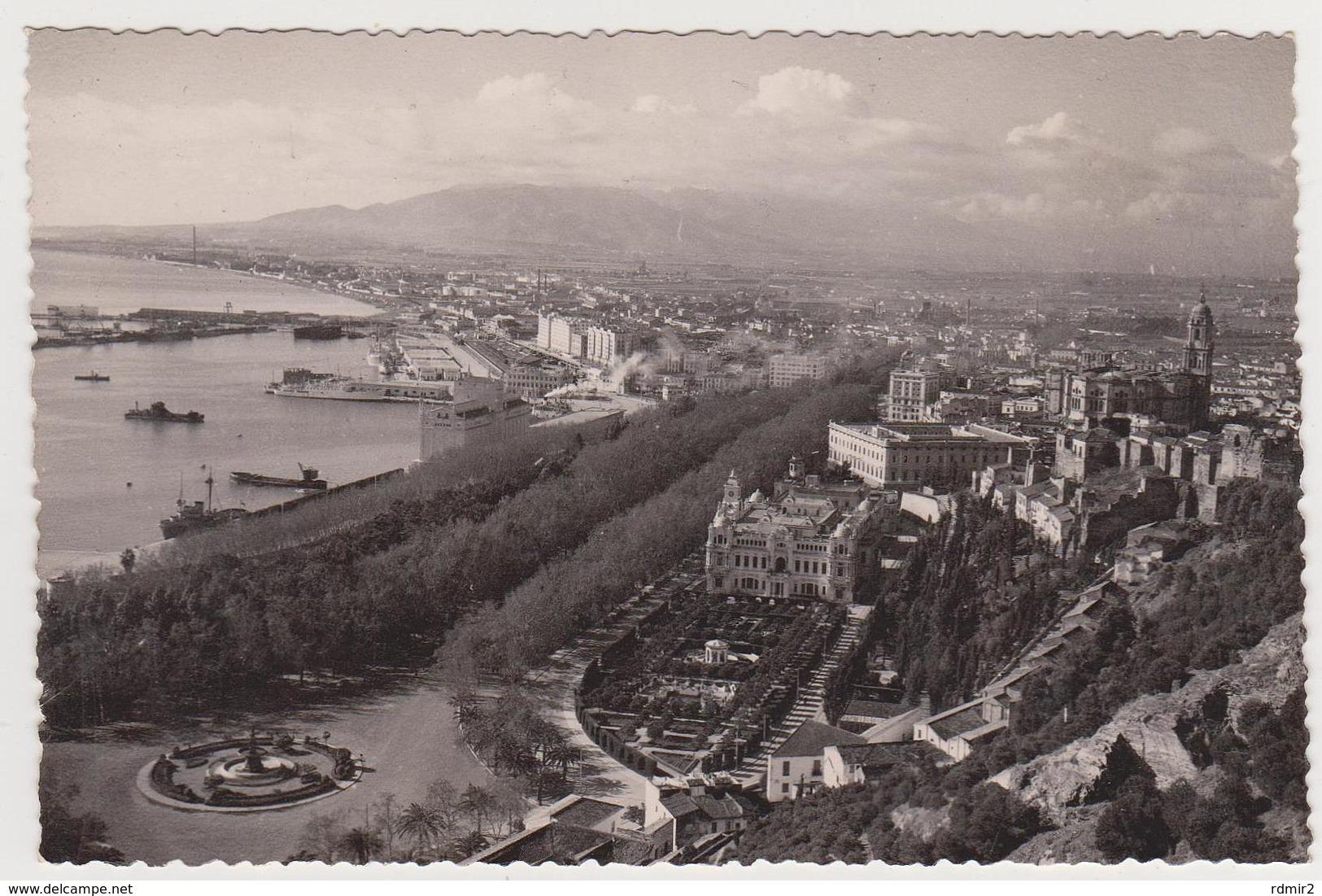 1716/ MÁLAGA. Vista Parcial.- Escrita En 1958, Écrite En 1958. Writed In 1958. Scritta Nel 1958. - Málaga