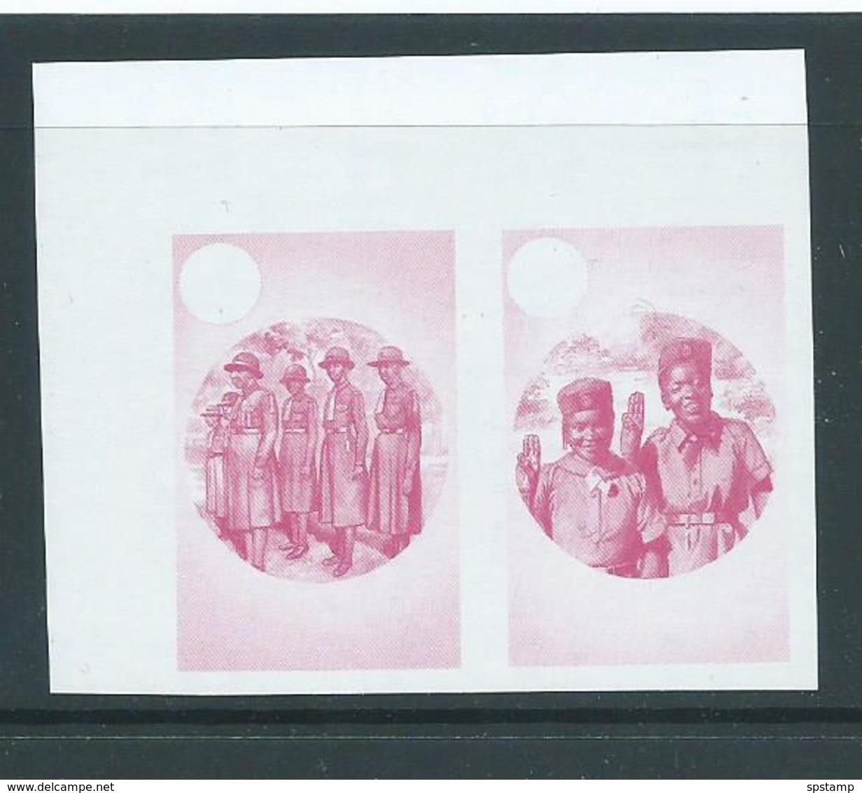 Montserrat 1986 Girl Guide Anniversary $1.15 Value 7 X Imperforate Colour Trial Proofs MNH - Montserrat