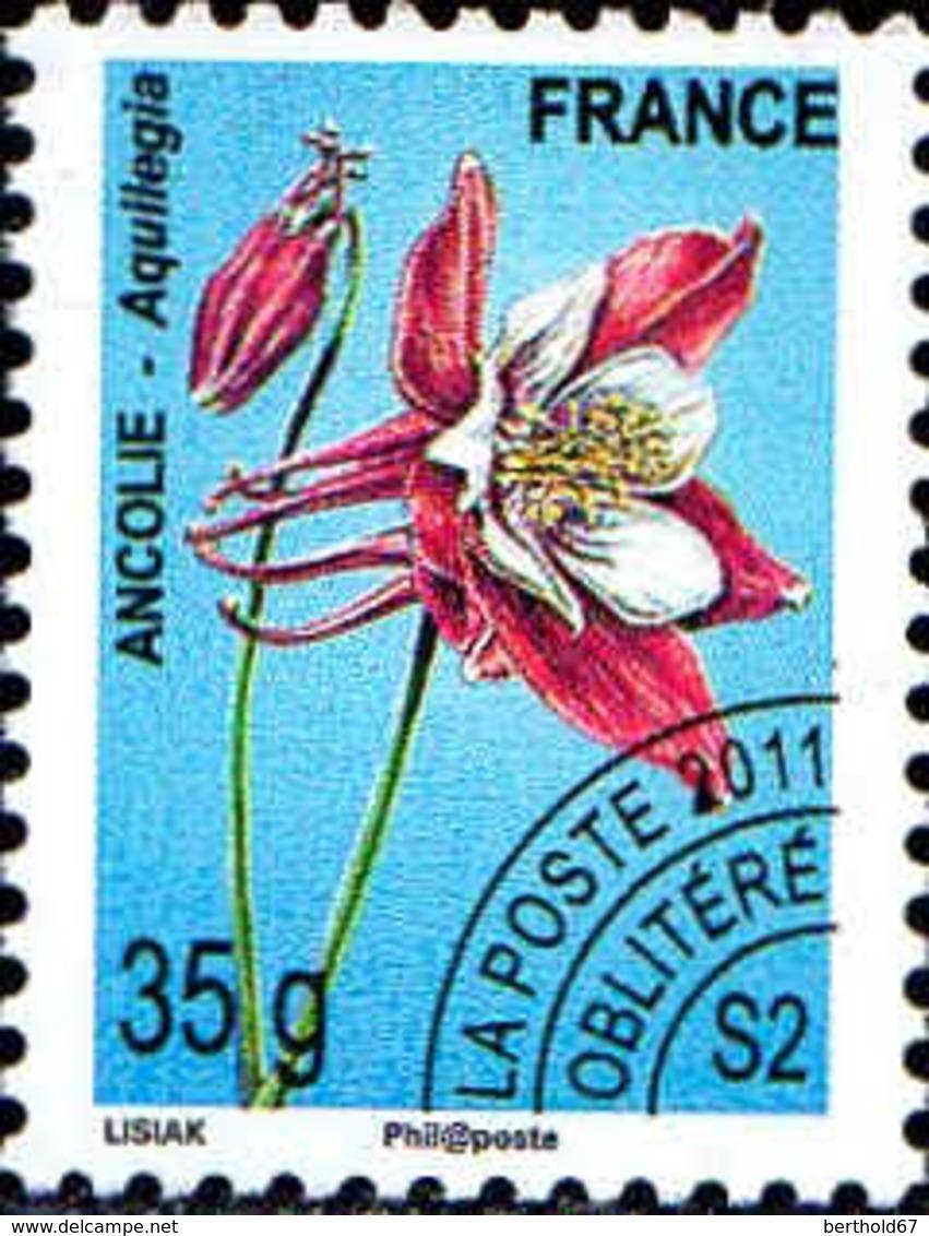 France Préo Obl Yv:260 Mi:5154 Ancolie-Aquilegia (s.gomme) - 1989-....