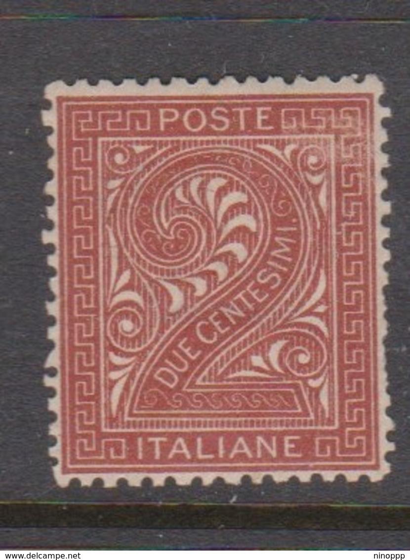 Italy S 15 1863 King Victor Emmanuel II,2c Orange Brown ,mint Never Hinged - Mint/hinged