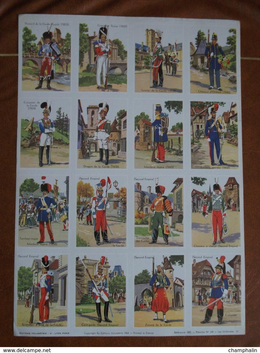 Planche éducative Volumétrix - N°149 - Les Uniformes II - Libri, Riviste, Fumetti