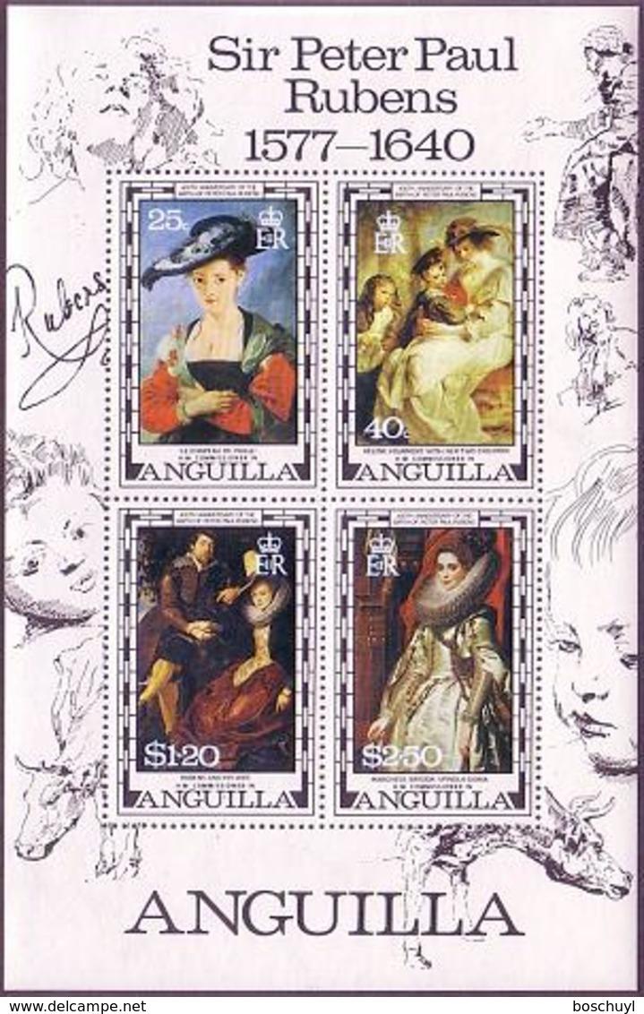 Anguilla, 1977, Rubens Paintings, Art, MNH, Michel Block 18 - Anguilla (1968-...)