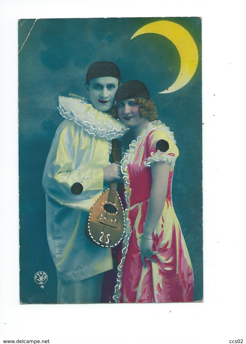 Couple Pierrot Et Colombine 1923 - Paare