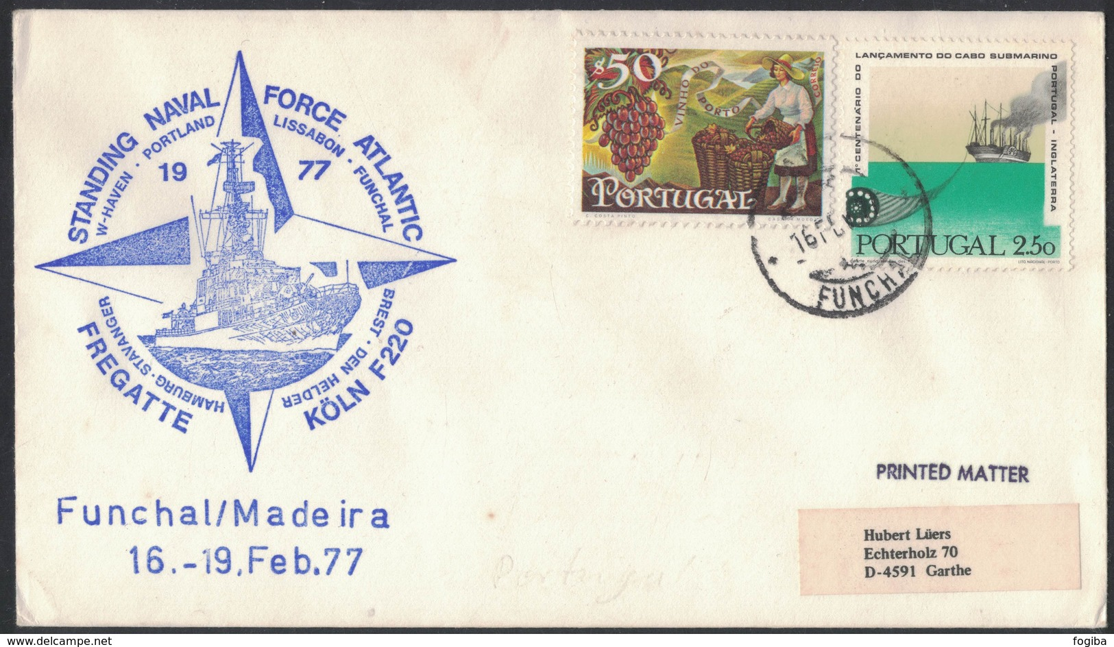 IN184   Portugal 1977 Funchal / Madeira Cover To Germany - Lettere