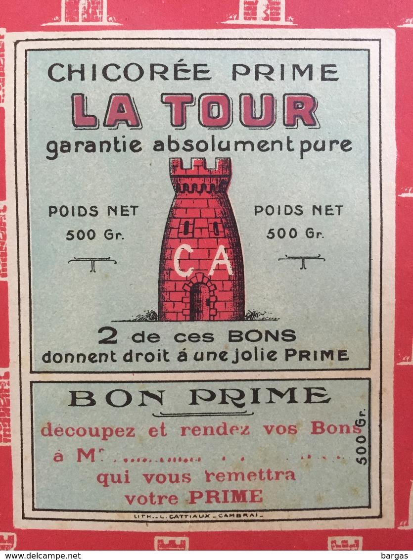 Grand Emballage Etiquette De Chicorée La Tour - Etiquettes