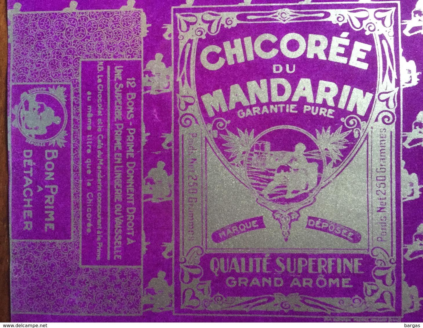 Grand Emballage Etiquette De Chicorée Du Mandarin - Autres