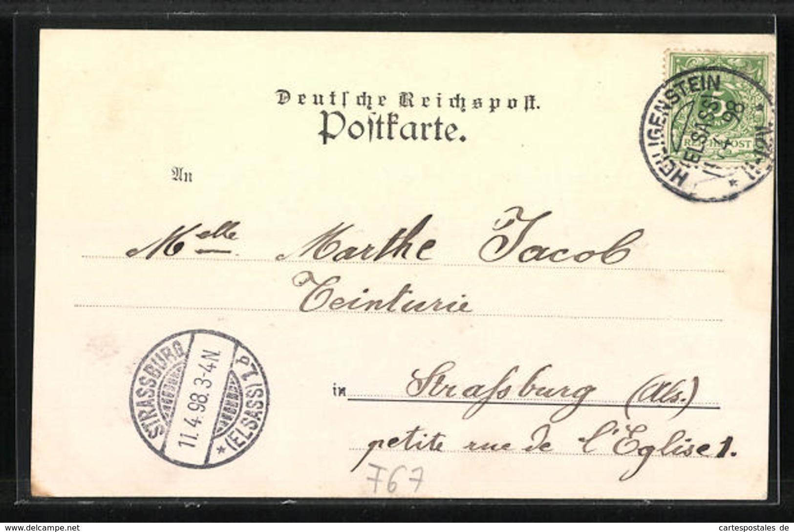 CPA Heiligenstein, Hôtel De Ville, Truttenhausen, Bärenbrunnen - Non Classés