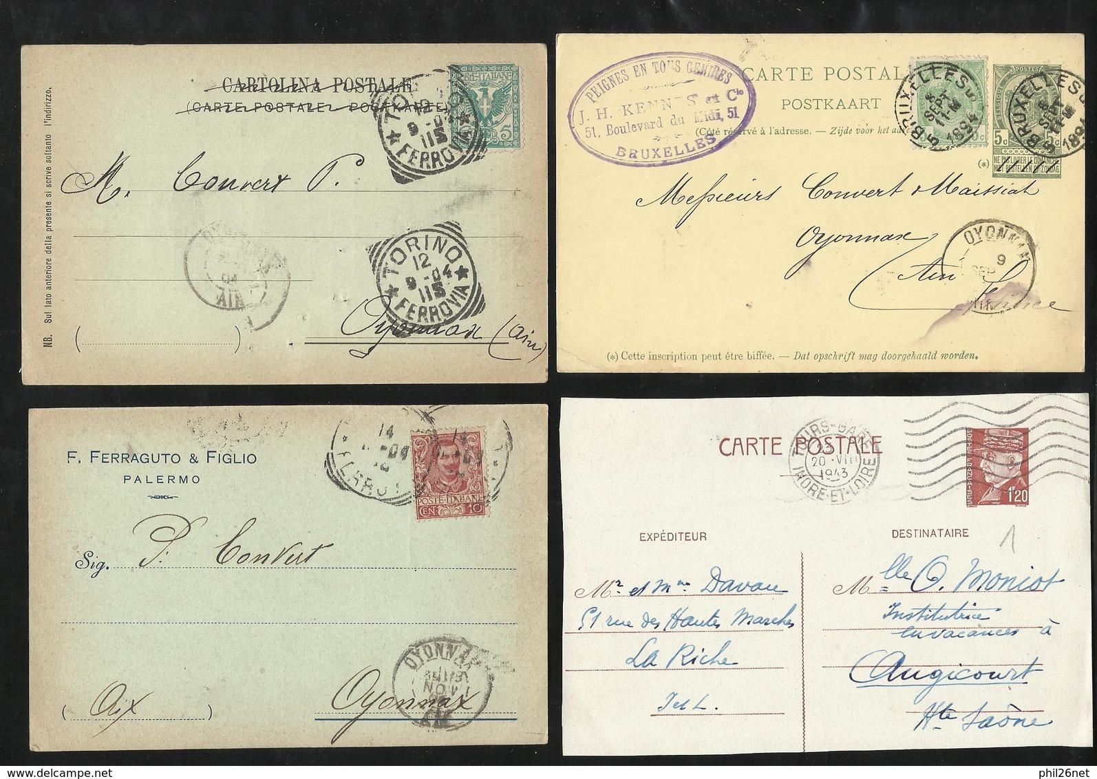 Europe 100 Entiers Postaux Et Cartes Postales Précurseurs à Destination France Non Trié  B/TB Barderie Cote Improtante ! - Collections (sans Albums)