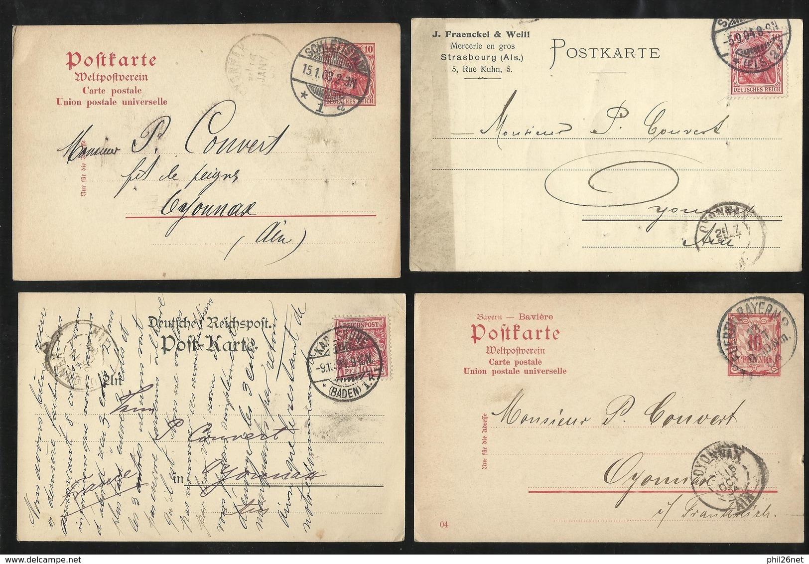 Europe 100 Entiers Postaux Et Cartes Postales Précurseurs à Destination France Non Trié  B/TB Barderie Cote Improtante ! - Stamps
