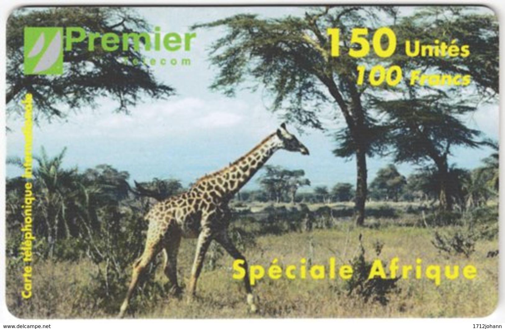 FRANCE C-471 Prepaid PremierTelecom - Animal, Giraffe - Used - Nachladekarten (Refill)