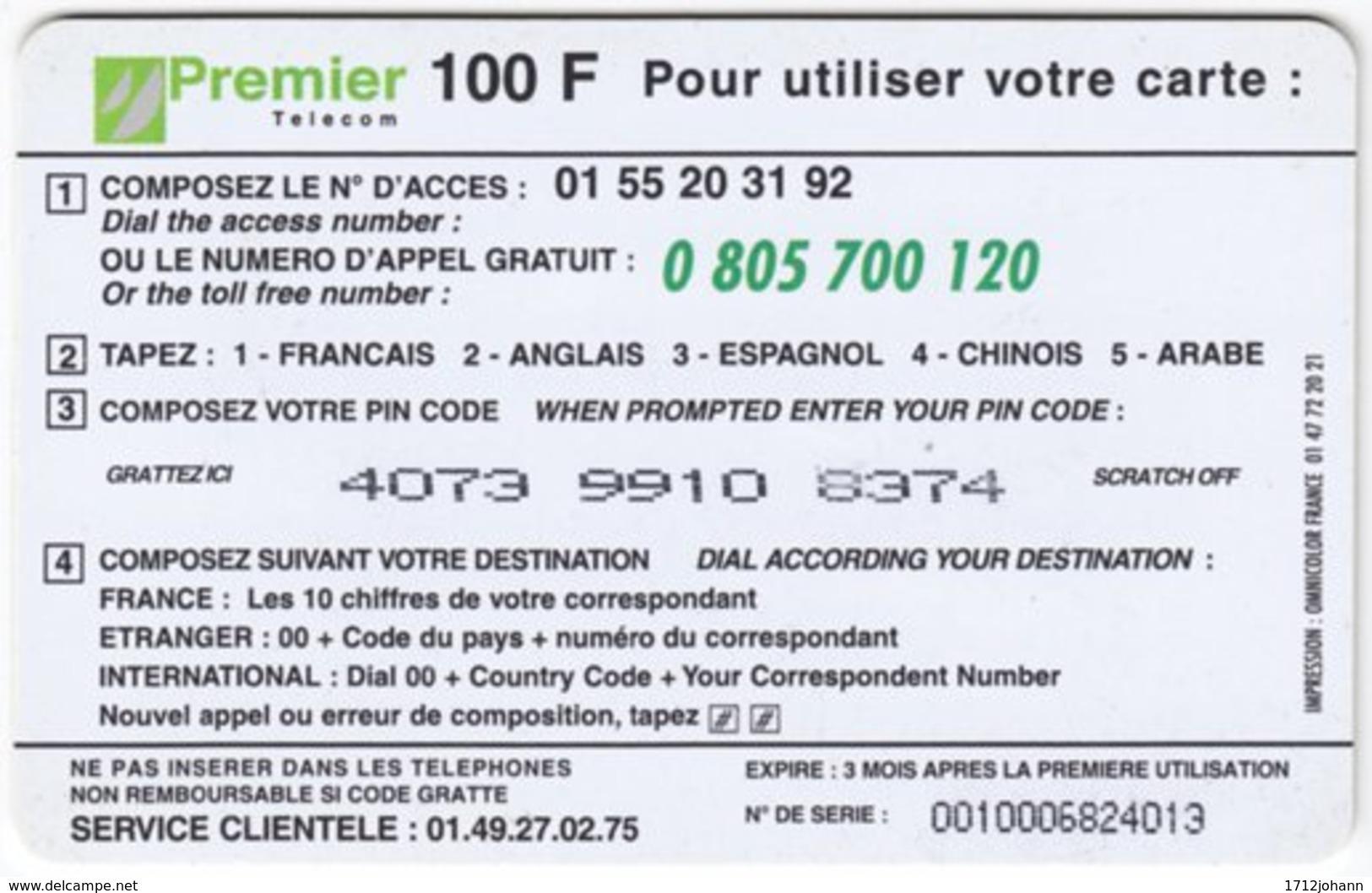 FRANCE C-471 Prepaid PremierTelecom - Animal, Giraffe - Used - Frankreich