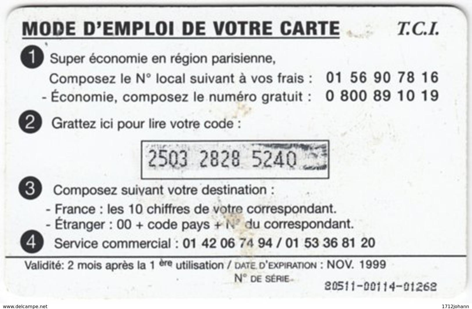 FRANCE C-521 Prepaid TCI - Animal, Bird - Used - Frankreich