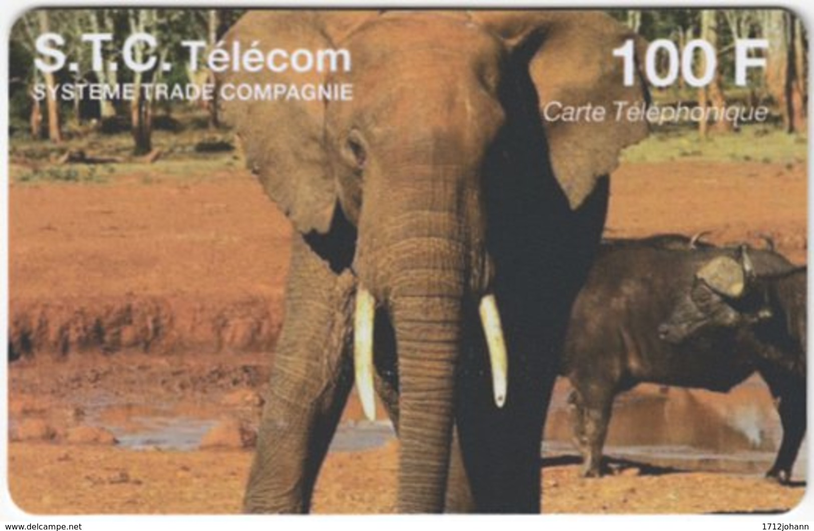 FRANCE C-549 Prepaid STC - Animal, Elephant - Used - Nachladekarten (Refill)