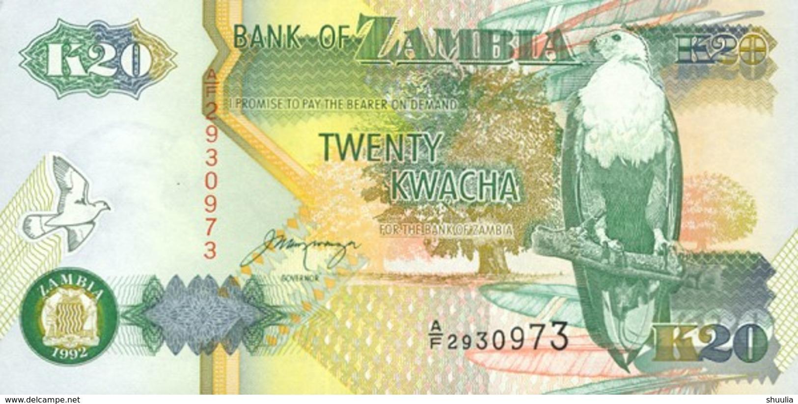 Zambia  20 Kwacha (1992) Pick 36b UNC - Zambia