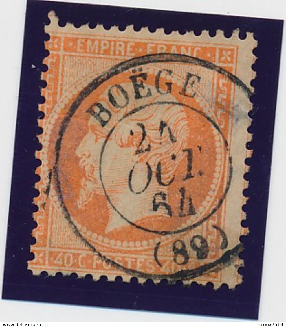 "40 C Orange Obl Càd ""BOEGE"" Rare B/TB. - 1862 Napoleon III"