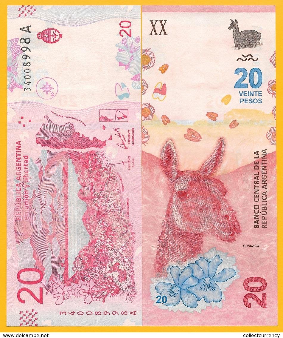 Argentina 20 PesosP-361 2017 (Suffix A) UNC Banknote - Argentina