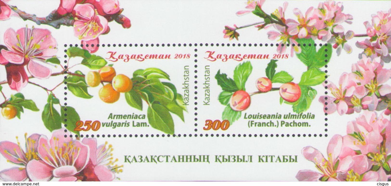 Kazakhstan Kasachstan MNH** 2018 Red Book Kazakh Trees Mi 1109-10 Bl.111 - Kasachstan