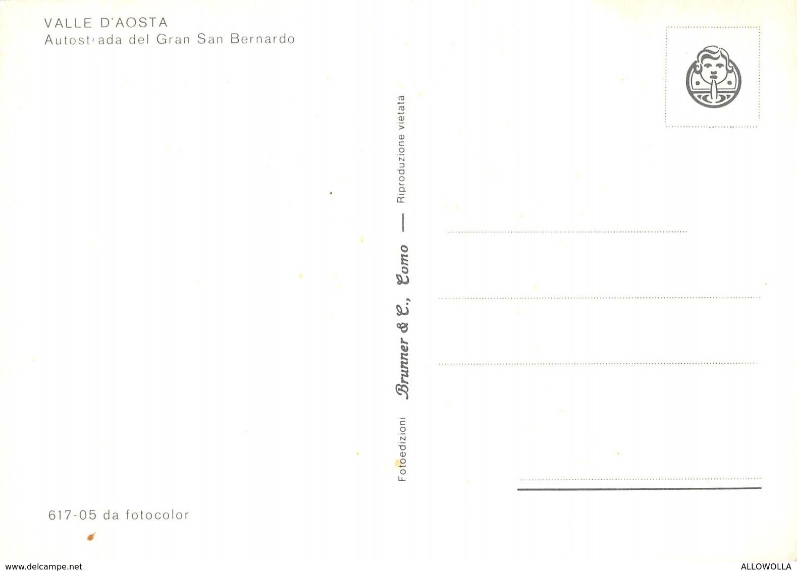 """3964 """"VALLE D'AOSTA-AUTOSTRADA DEL GRAN SAN BERNARDO""""VETTURE ANNI'60-PATTUGLIA STRADALE  CARTOLINA  POS. ORIG. NON SPED. - Italy"""