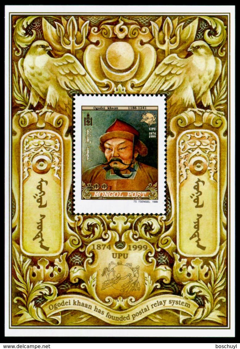 Mongolia, 1999, UPU 125th Anniversary, Universal Postal Union, United Nations, MNH, Michel Block 305 - Mongolie