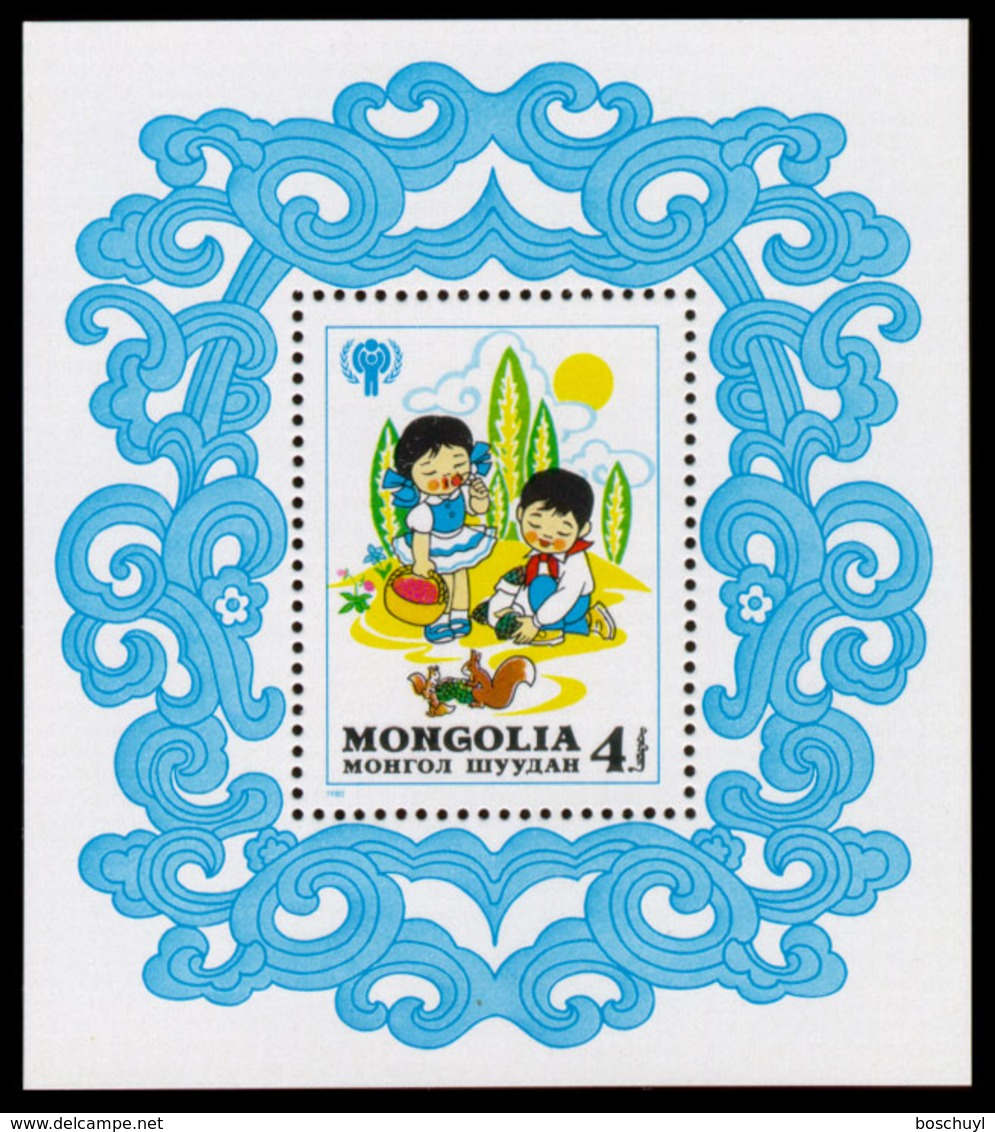 Mongolia, 1980, International Year Of The Child, IYC, United Nations, MNH, Michel Block 70 - Mongolie