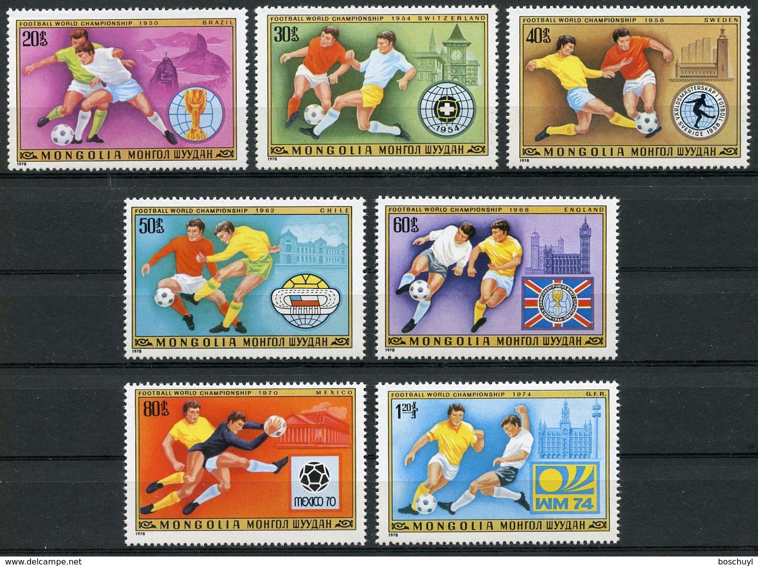 Mongolia, 1978, Soccer World Cup Argentina, Football, MNH, Michel 1148-1154 - Mongolie
